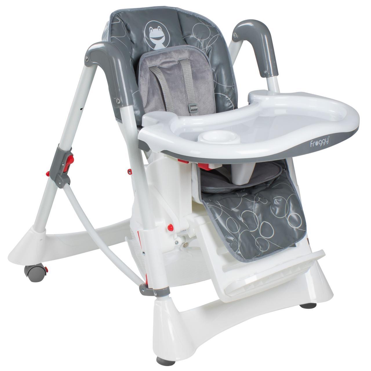 froggy babystuhl kinderstuhl hochstuhl verstellbar klappbar 3 sitzpositionen ebay. Black Bedroom Furniture Sets. Home Design Ideas