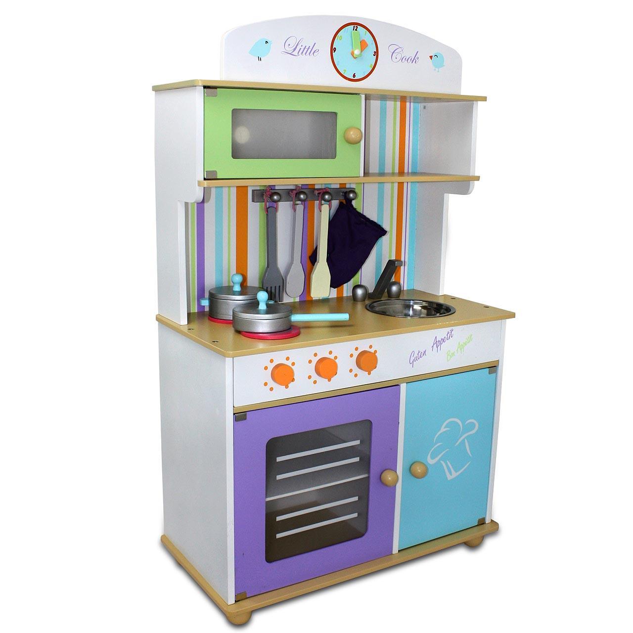 Wooden Kitchen Kids Fun Children Cooking Role Play Toy Playset Creative Game