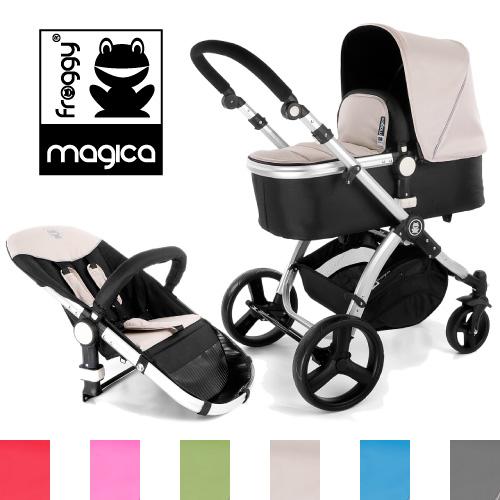 Froggy-Kinderwagen-MAGICA-Buggy-Sportwagen-inkl-Babywanne-Sportsitz-Alu