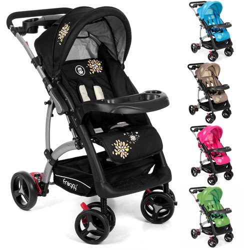 Froggy-Kinderwagen-RANGER-S4-Buggy-Sportwagen-Babywagen-4-Rad-Schwenkbar