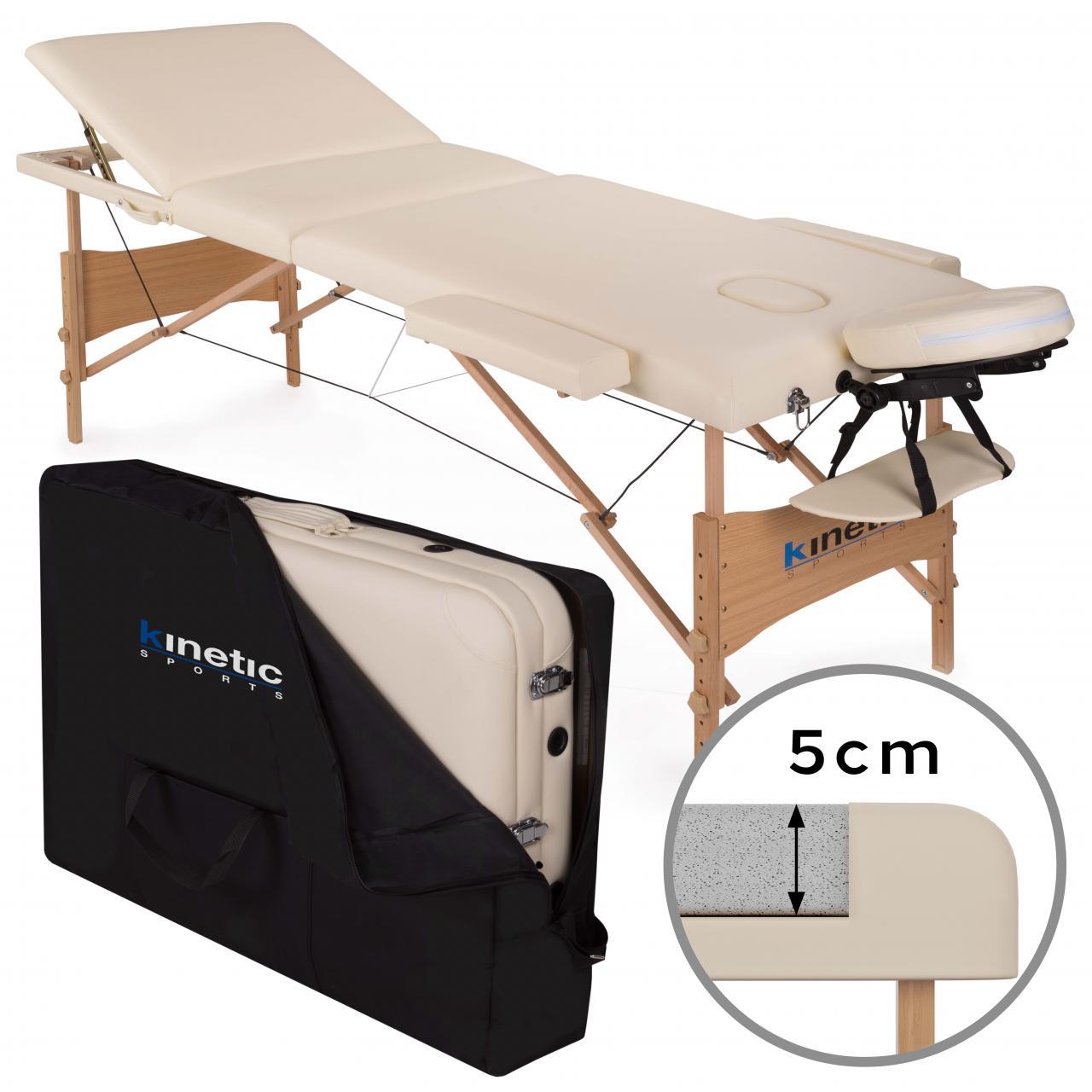 Lettino Massaggio 3 Zone Legno Lettini per Massaggi Pieghevole Portatile Borsone  eBay