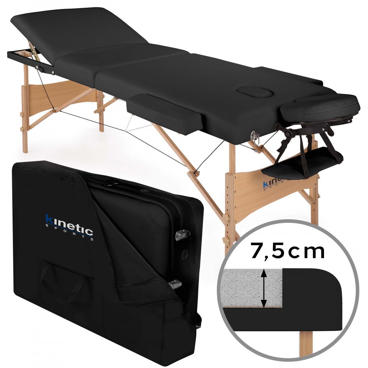 Lettino Massaggio 3 Zone Legno Lettini per Massaggi Portatile Pieghevole Borsone  eBay