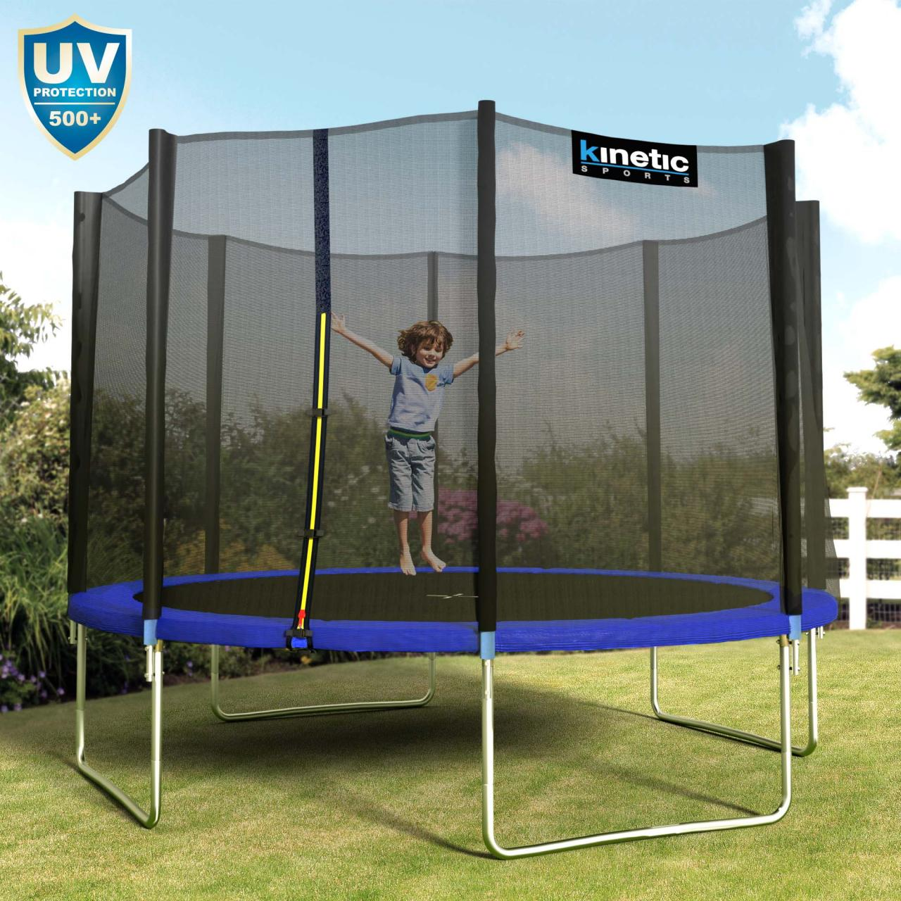 kinetic sports trampolin outdoor garten inkl netz. Black Bedroom Furniture Sets. Home Design Ideas