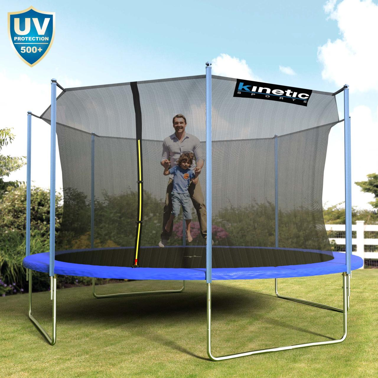 kinetic sports trampolin outdoor garten inkl netz sprungtuch randabdeckung set. Black Bedroom Furniture Sets. Home Design Ideas