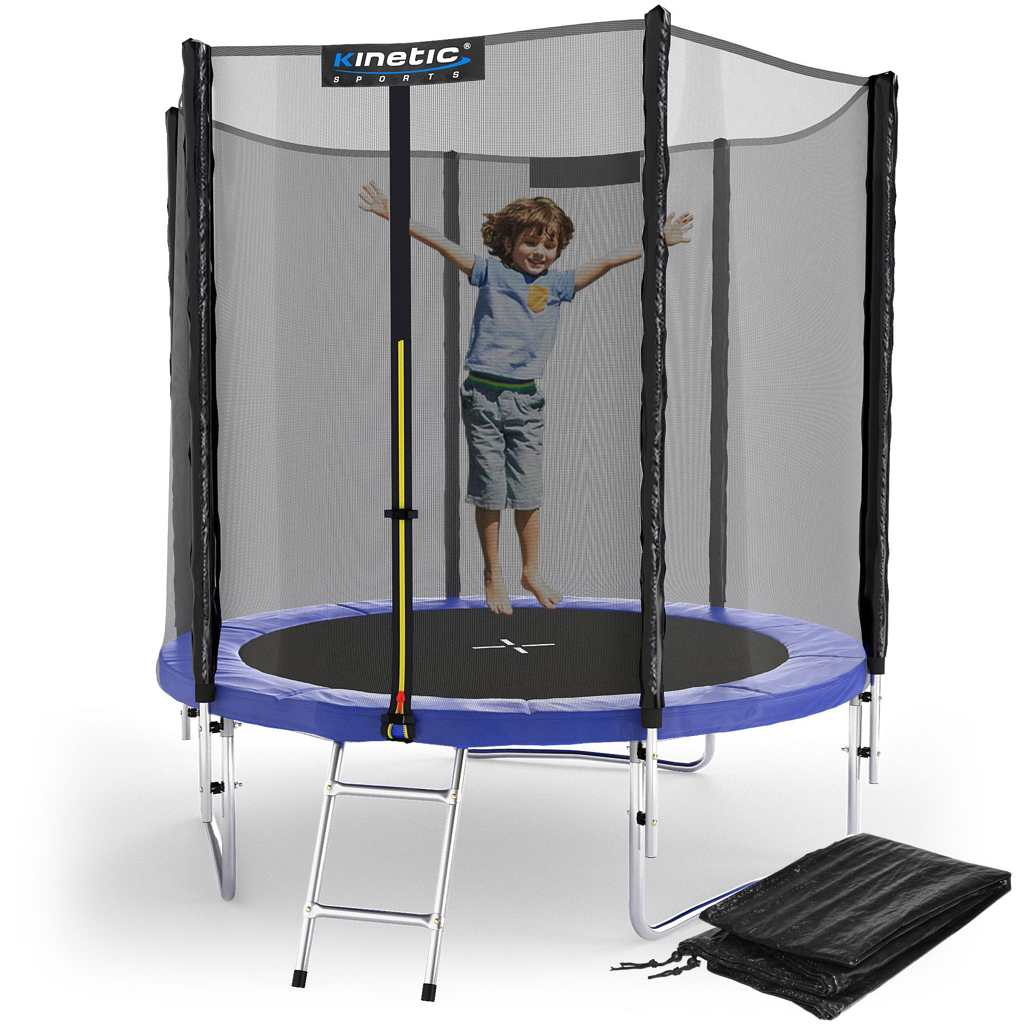 Trampolin komplett set netz randabdeckung leiter for Garten pool komplett set