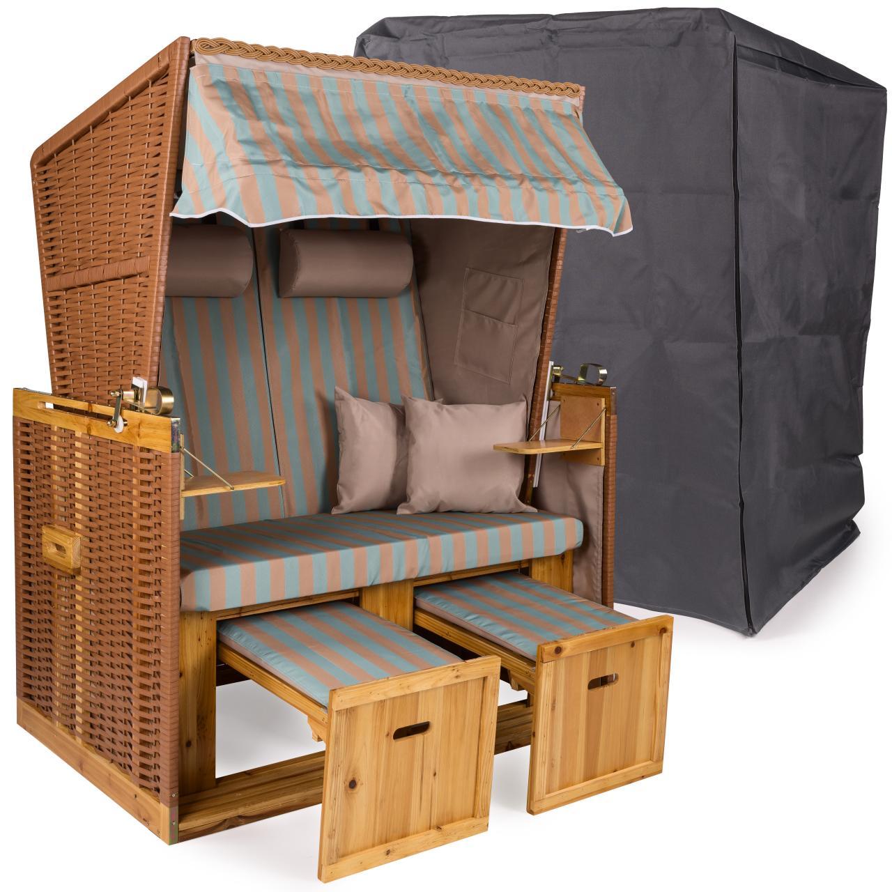 strandkorb xxl premium nordsee gartenliege sylt volllieger gartenm bel rattan ebay. Black Bedroom Furniture Sets. Home Design Ideas