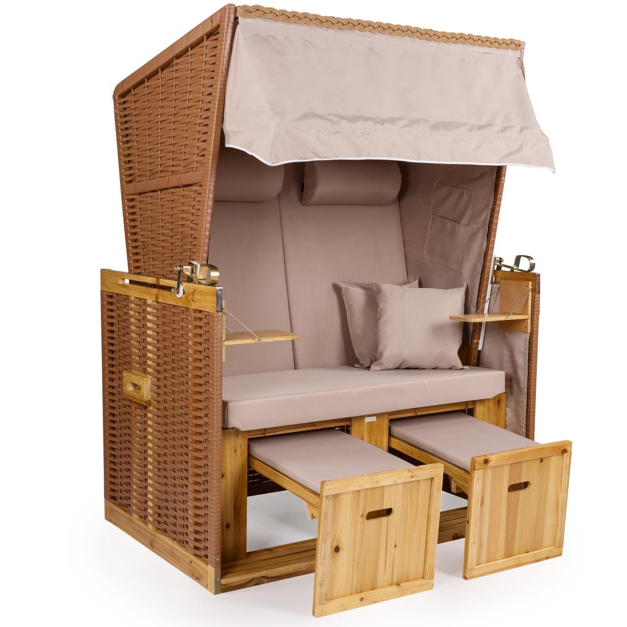 strandkorb xxl premium nordsee volllieger gartenm bel gartenliege lounge rattan ebay. Black Bedroom Furniture Sets. Home Design Ideas