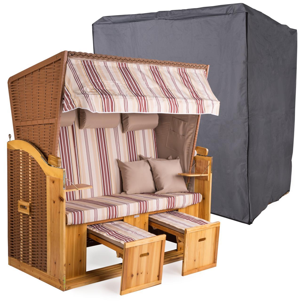 strandkorb xxl deluxe 160cm mit schutzh lle 600d. Black Bedroom Furniture Sets. Home Design Ideas