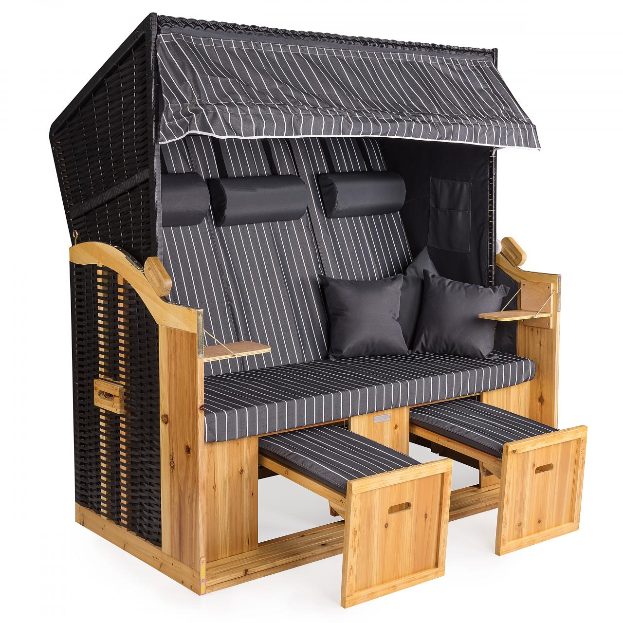 strandkorb xxl deluxe 160cm volllieger gartenliege ostsee nordsee gartenm bel ebay. Black Bedroom Furniture Sets. Home Design Ideas