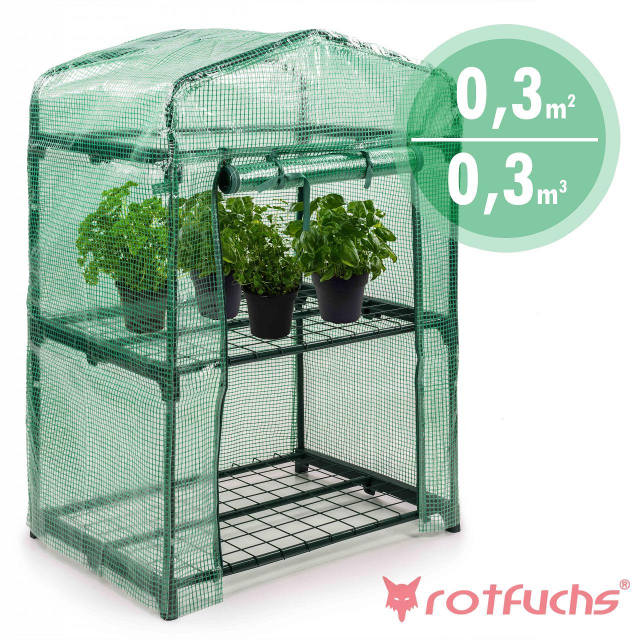 rotfuchs folien gew chshaus treibhaus tomatenhaus folienzelt fr beet mit regal ebay. Black Bedroom Furniture Sets. Home Design Ideas