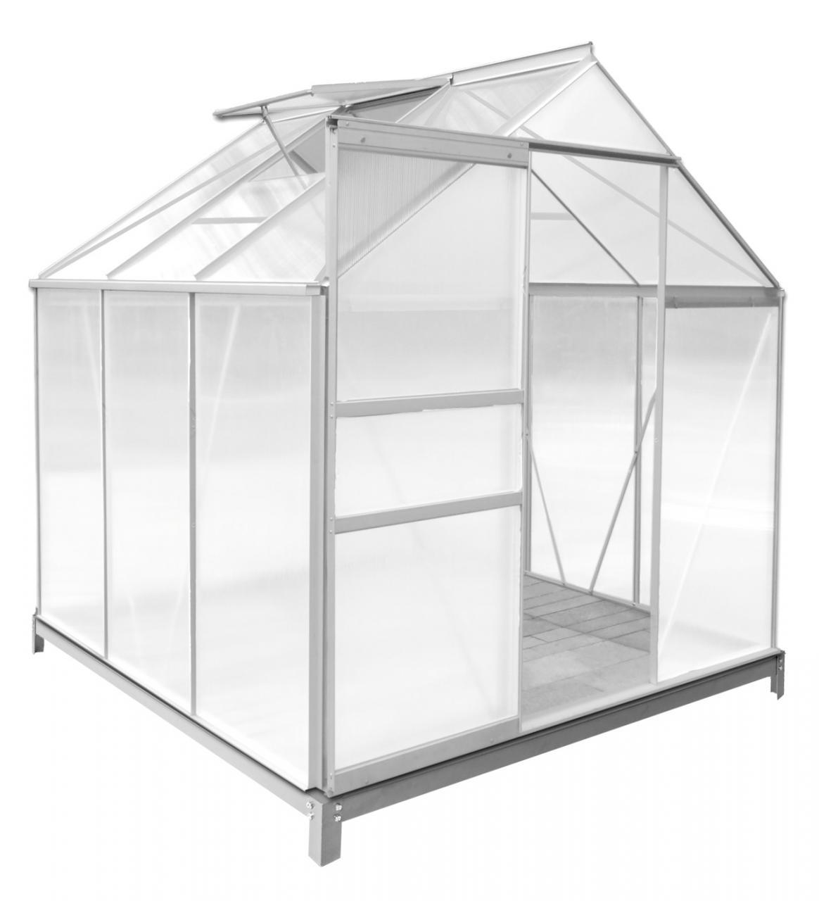 rotfuchs alu gew chshaus mit fundament treibhaus fr hbeet tomaten gartenhaus. Black Bedroom Furniture Sets. Home Design Ideas