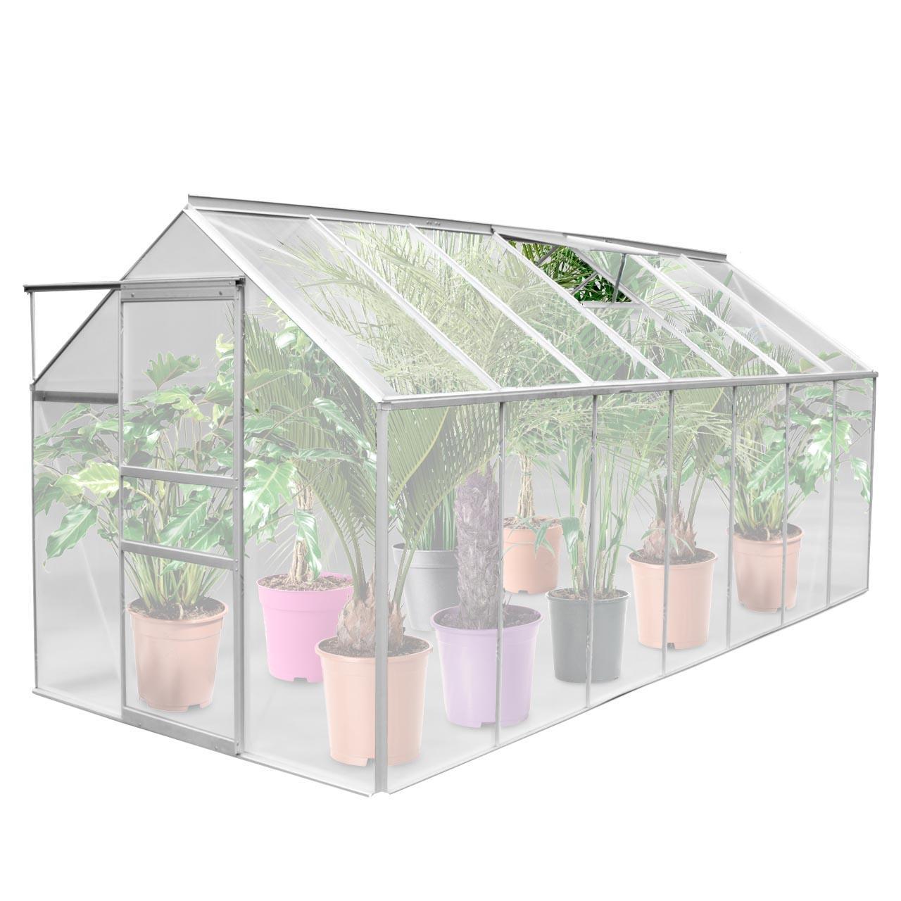 Gewächshaus ALU Garten Treibhaus Tomaten Frühbeet inkl Fenster