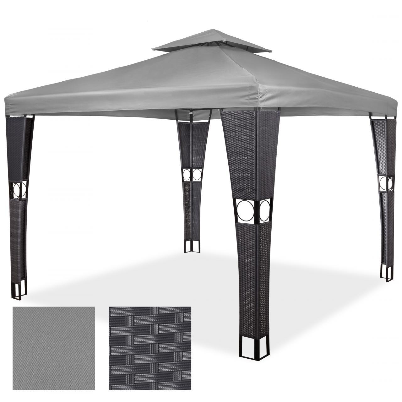 Polyrattan pavillon gartenpavillon gartenm bel partyzelt for Torwandplane 3 x 2 m