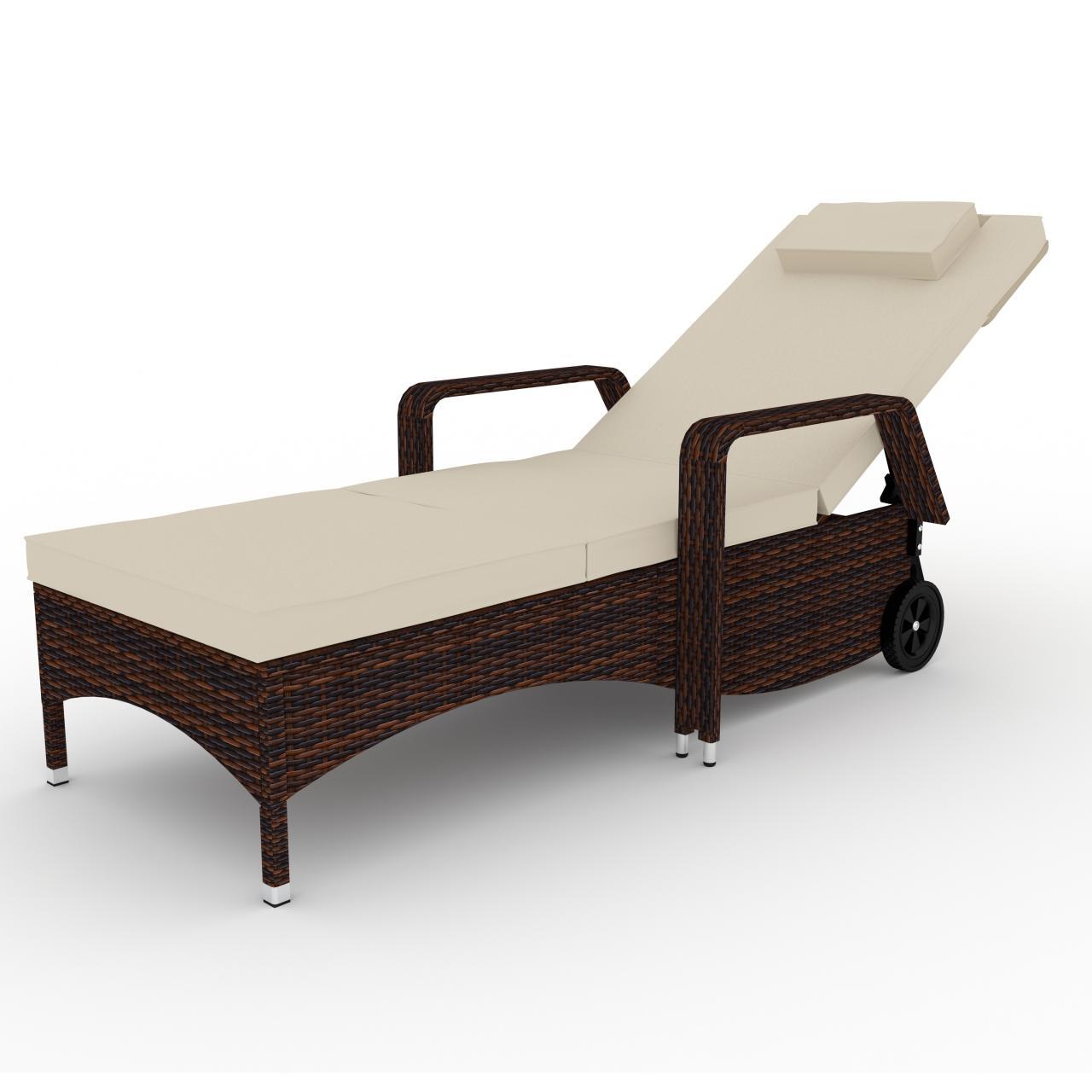 polyrattan sonnenliege gartenliege rattan garten liege. Black Bedroom Furniture Sets. Home Design Ideas