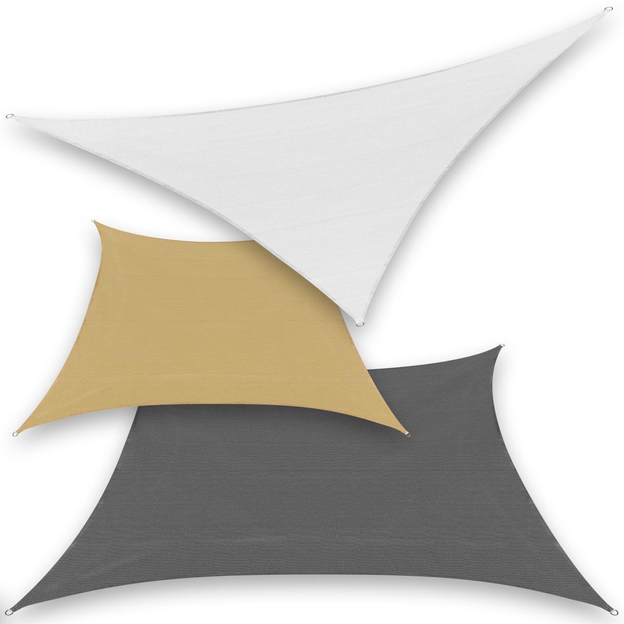 sonnensegel sonnenschutz garten sonnendach uv schutz beschattung dreieck viereck ebay. Black Bedroom Furniture Sets. Home Design Ideas