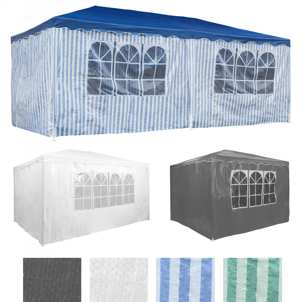 partyzelt in verschiedenen gr en festzelt gartenzelt bierzelt pavillon zelt ebay. Black Bedroom Furniture Sets. Home Design Ideas