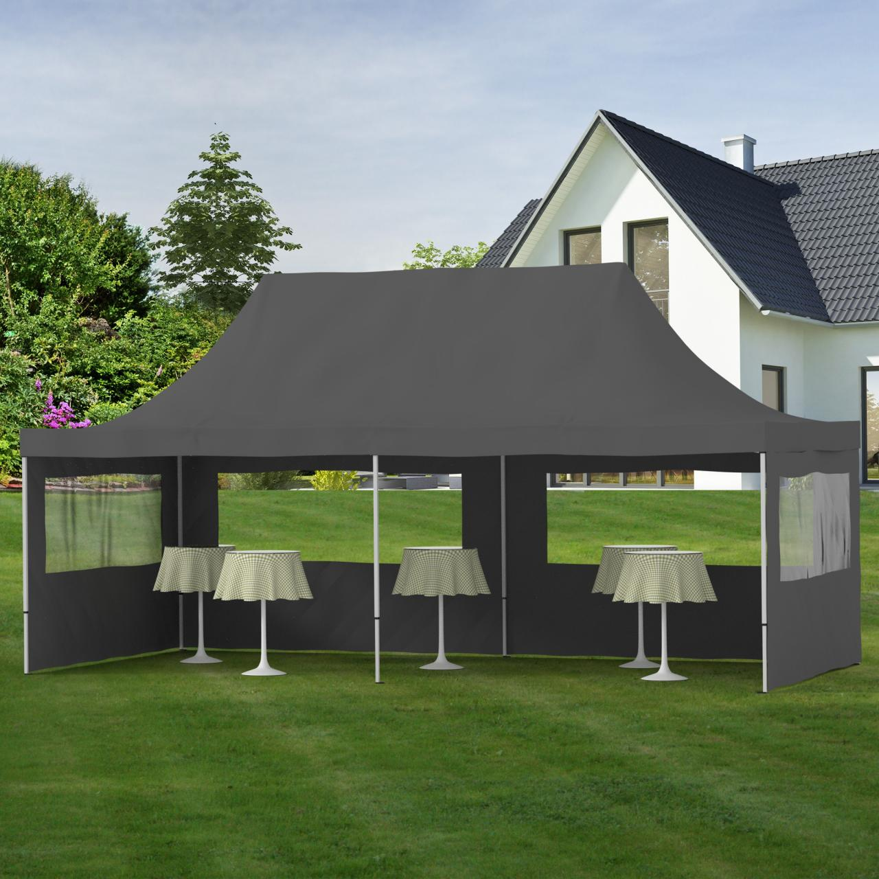 Gartenpavillon Zelt Faltpavillon Pavillon Partyzelt 3x6 : Gartenpavillon alu faltzelt faltpavillon klappzelt