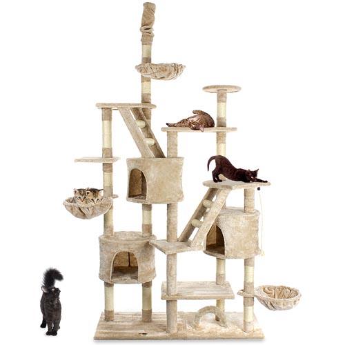 kratzbaum xxl katzenkratzbaum katzenbaum katzen deckenhoch testen ebay. Black Bedroom Furniture Sets. Home Design Ideas