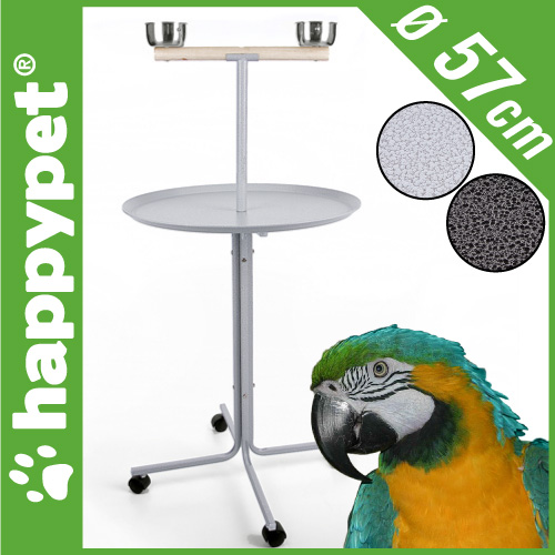 gro er papageien freisitz k fig voliere 57cm wellensittich. Black Bedroom Furniture Sets. Home Design Ideas