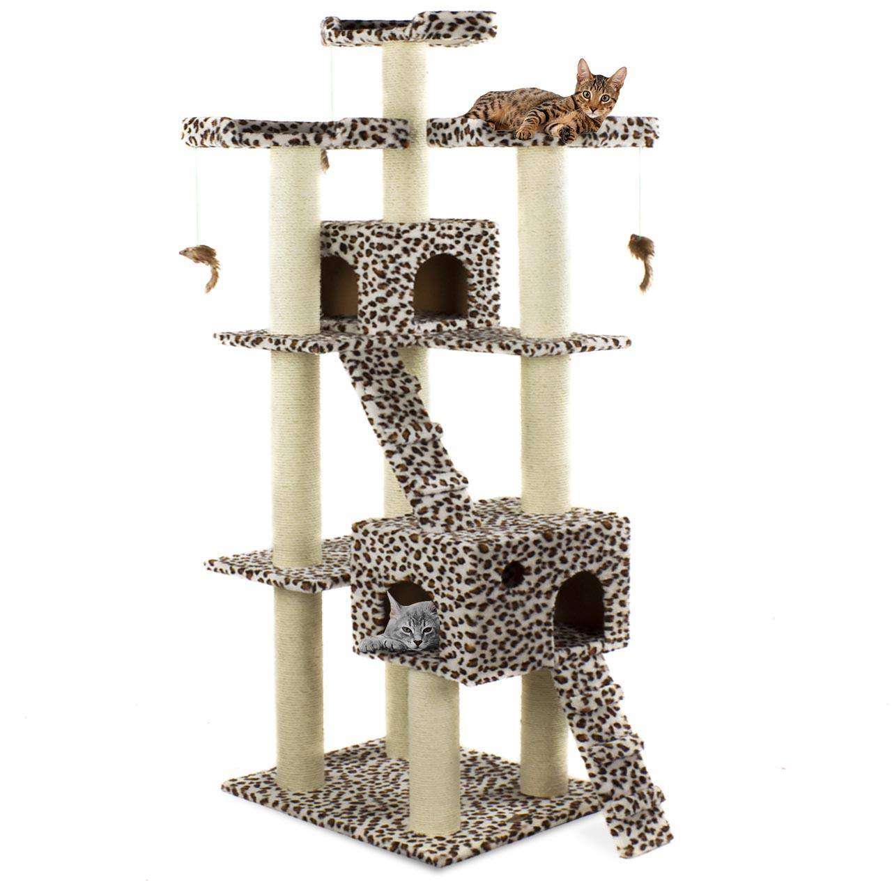 arbre chat griffoir grattoir 182m diverses couleurs happypet cat002 neuf ebay. Black Bedroom Furniture Sets. Home Design Ideas
