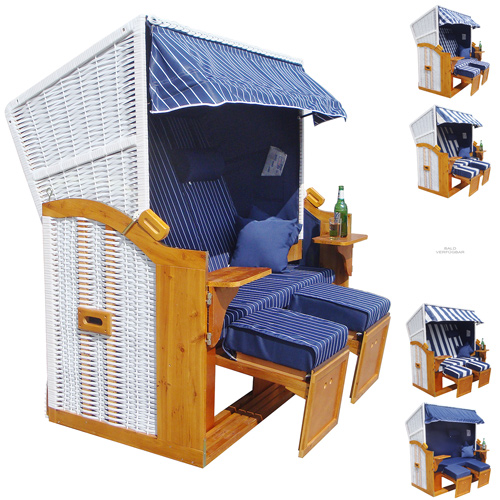 strandkorb 160cm premium ostsee volllieger xxl hollywoodschaukel zubeh r bl ebay. Black Bedroom Furniture Sets. Home Design Ideas