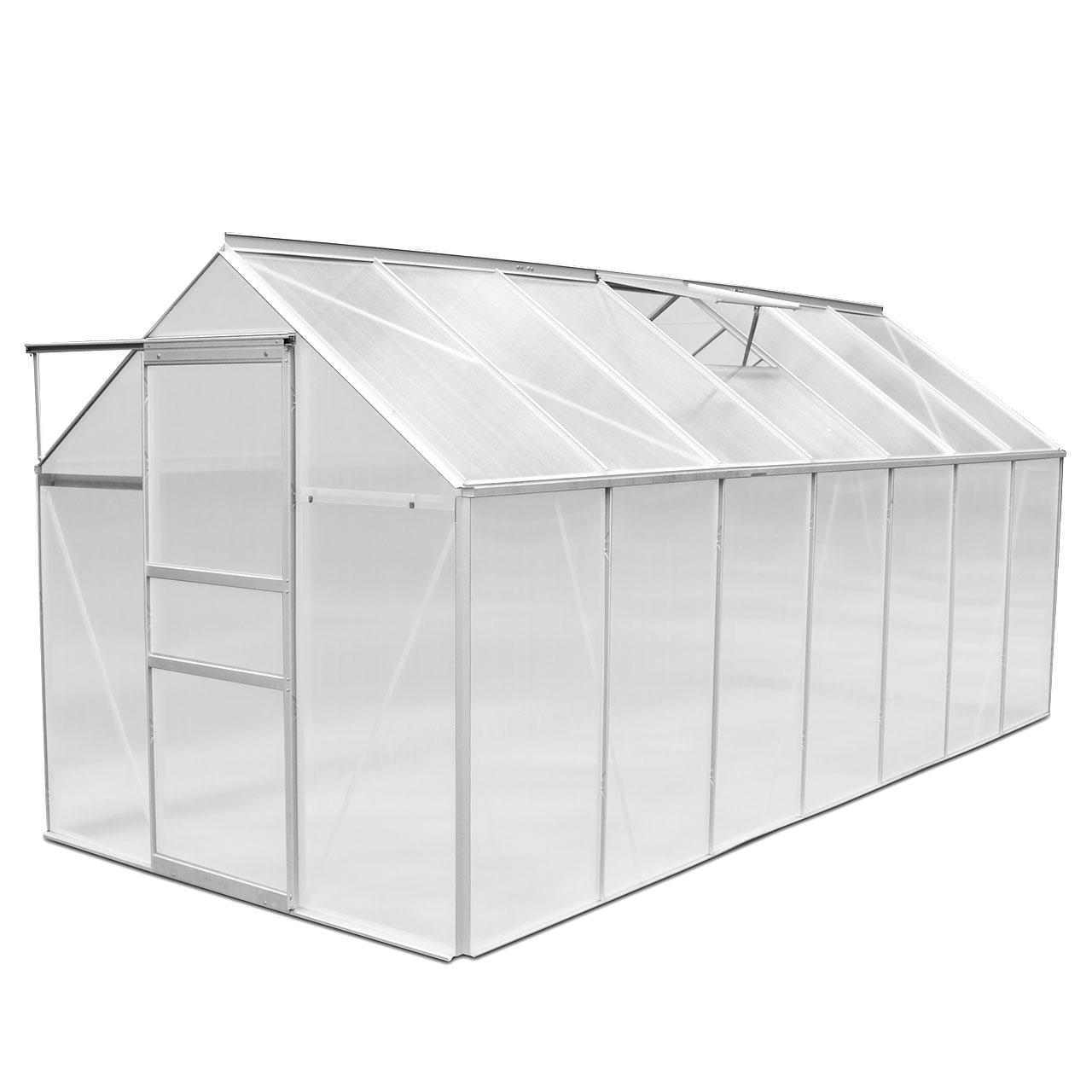 ALU-Gewaechshaus-Garten-Treibhaus-Tomaten-Fruehbeet-inkl-Fenster-6mm-diverse-Masse