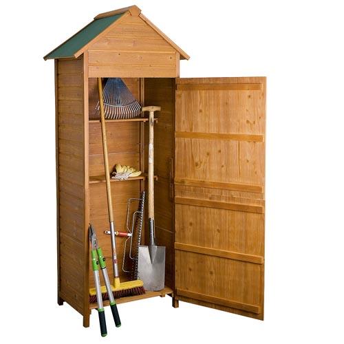 Xl abri de jardin cabane outils en bois armoire de for Abri outils de jardin
