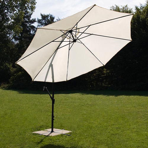 3 50m ampelschirm schirm sonnenschirm gartenschirm pendelschirm sonnenschutz xxl ebay. Black Bedroom Furniture Sets. Home Design Ideas