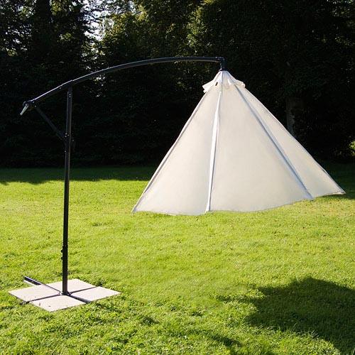 large 3 50m garden parasol sun shade umbrella patio cantilever banana hanging ebay. Black Bedroom Furniture Sets. Home Design Ideas