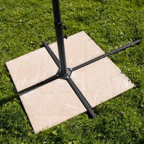3 50m ampelschirm schirm sonnenschirm gartenschirm sonnensegel sonnenschutz blau ebay. Black Bedroom Furniture Sets. Home Design Ideas