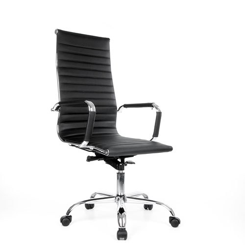 leder b ro chefsessel b rostuhl schreibtischstuhl drehstuhl sessel stuhl schwarz ebay. Black Bedroom Furniture Sets. Home Design Ideas