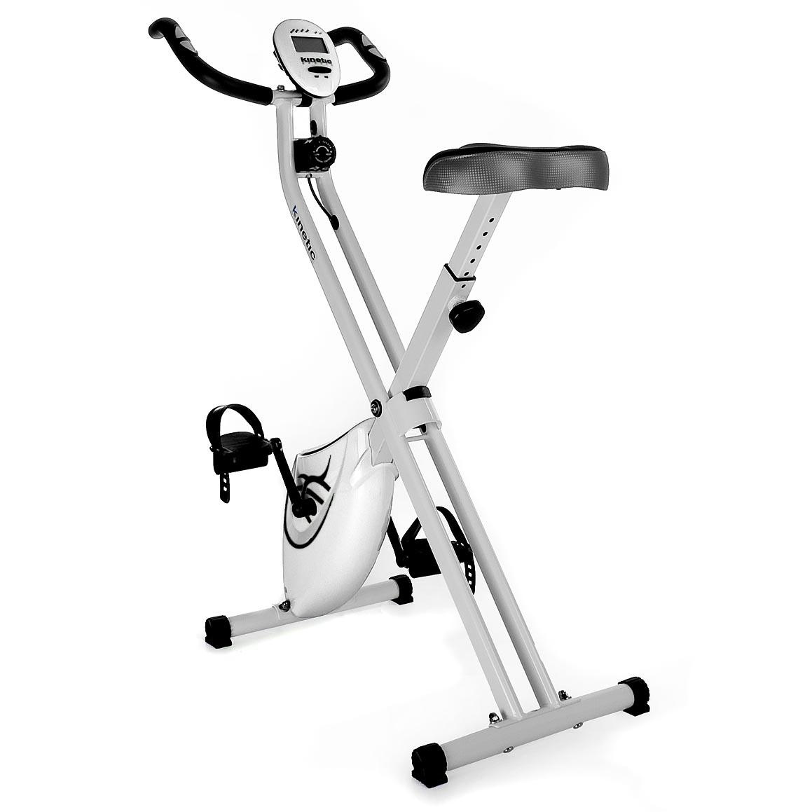 velo d 39 appartement pliable ergometre compteur basic fitness cardio blanc ebay. Black Bedroom Furniture Sets. Home Design Ideas