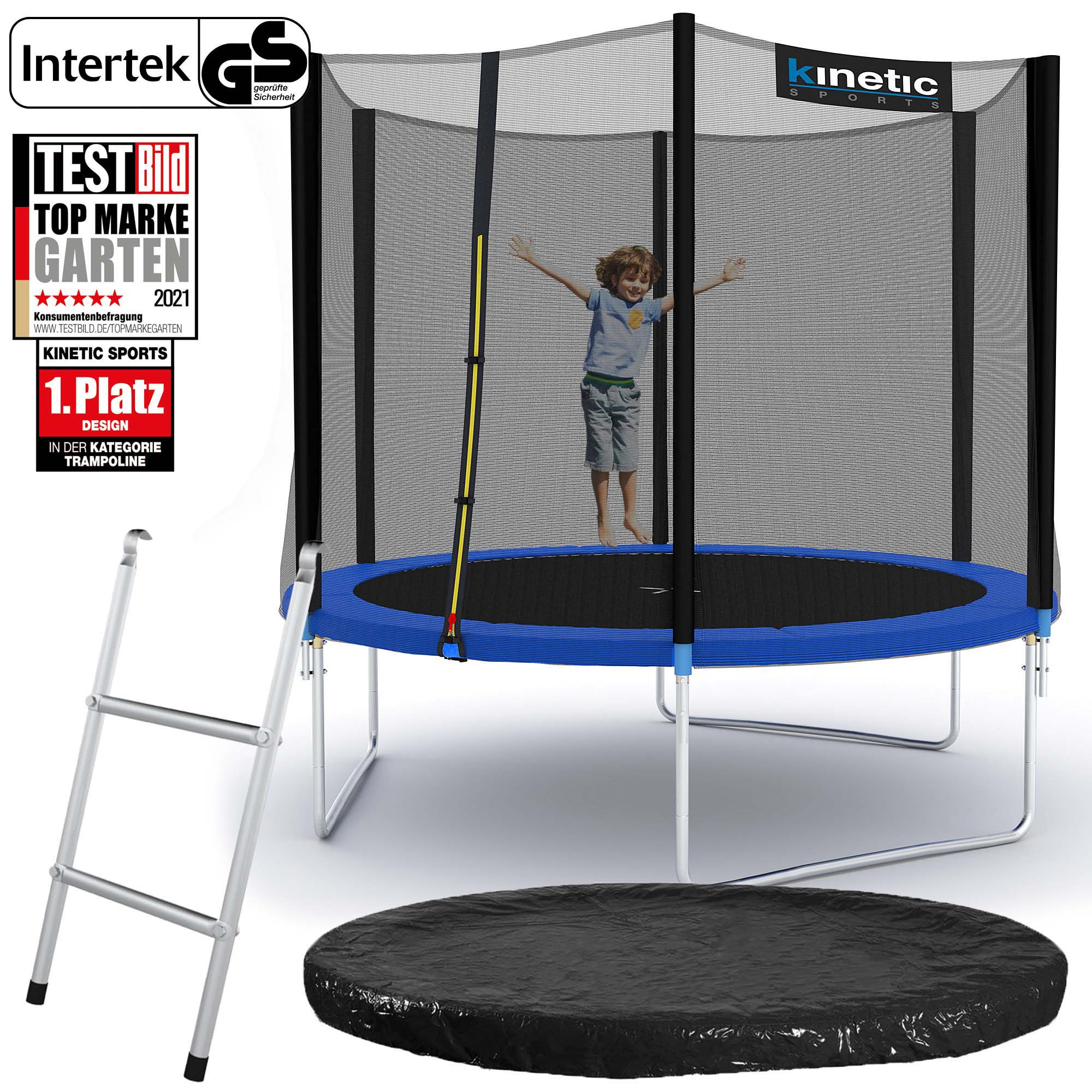 trampolin komplett set netz randabdeckung leiter abdeckplane outdoor garten ebay. Black Bedroom Furniture Sets. Home Design Ideas