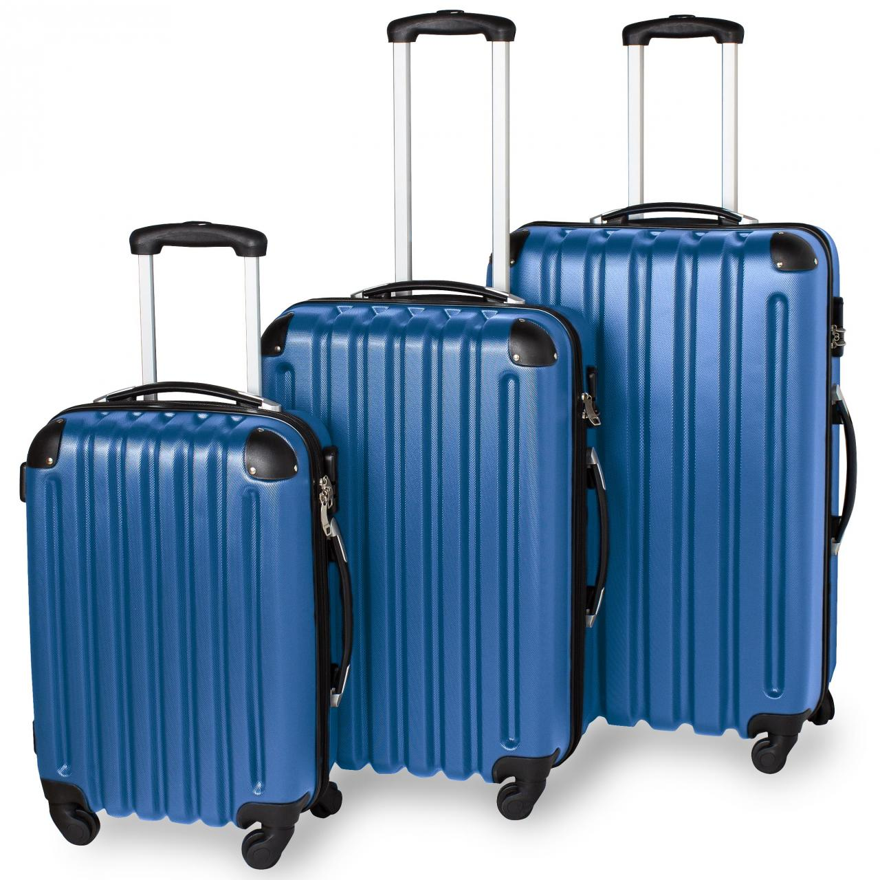 three piece abs travel luggage set hard shell suitcase. Black Bedroom Furniture Sets. Home Design Ideas