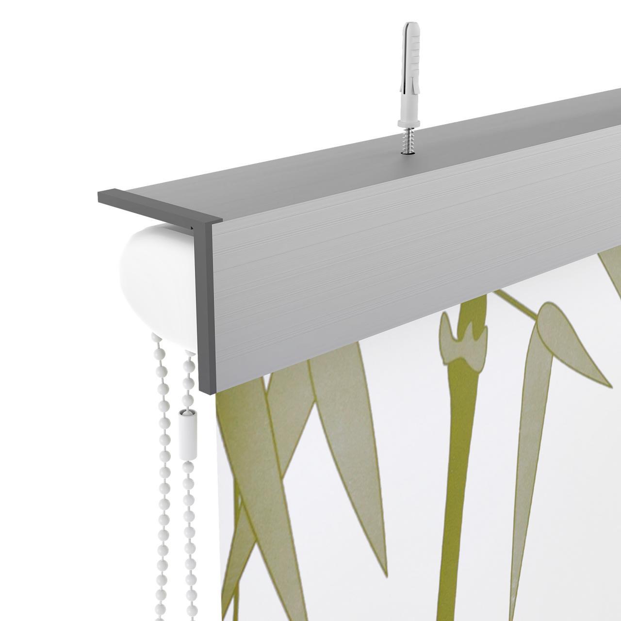 duschrollo alu halbkassette duschvorhang dusche badewannenvorhang bad seitenzug ebay. Black Bedroom Furniture Sets. Home Design Ideas