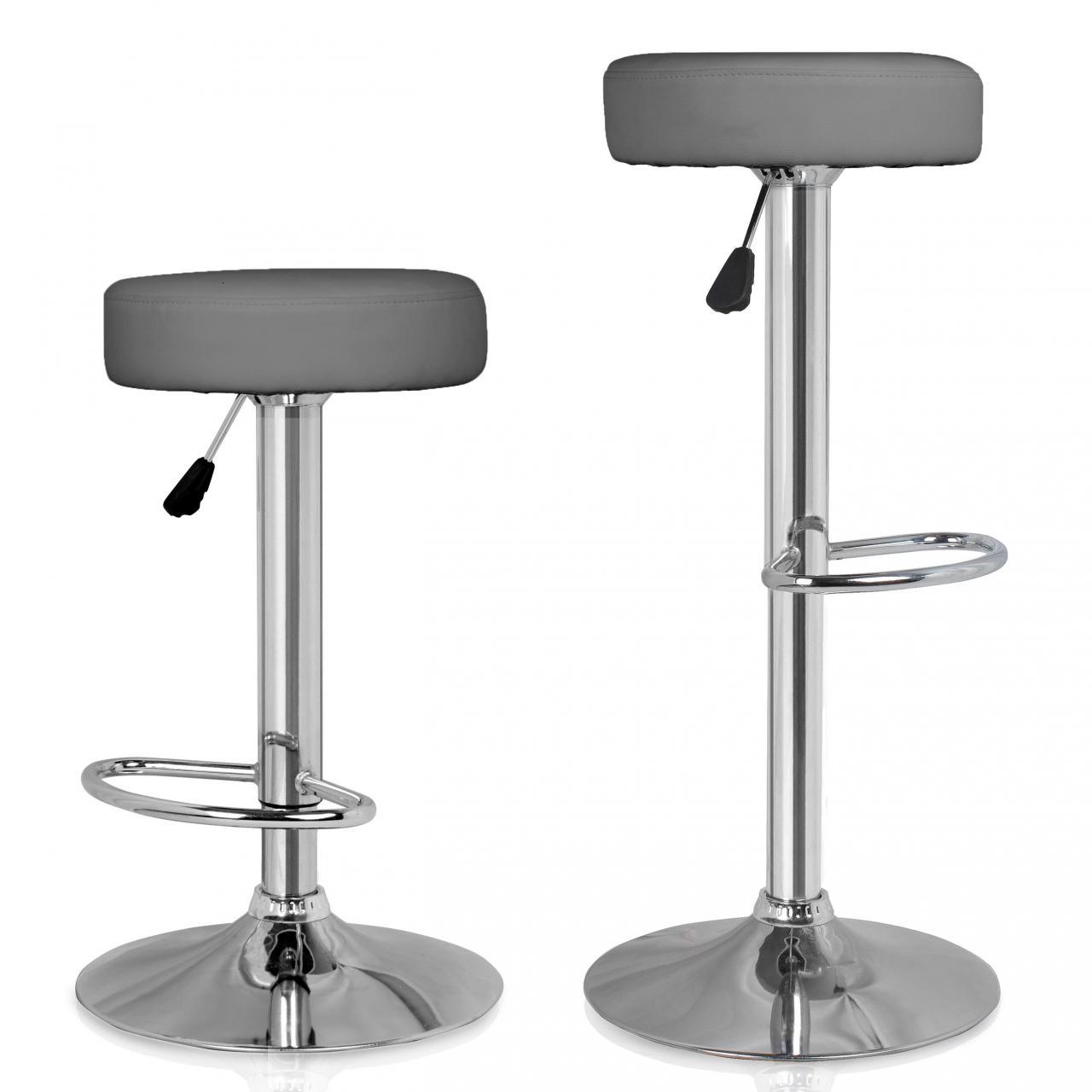 set de 2 tabourets de bar chaise de comptoir fauteuil lounge chaise pivotante ebay. Black Bedroom Furniture Sets. Home Design Ideas