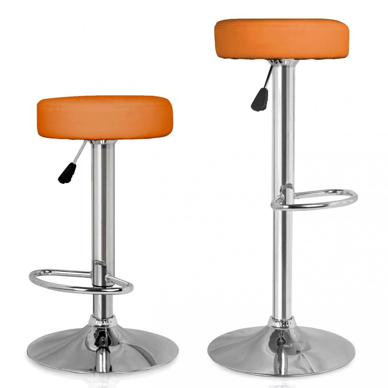Bar Stool Set of 2 Faux Leather Office Chair Kitchen  : BSCORANGE00 from www.ebay.co.uk size 1280 x 1280 jpeg 75kB