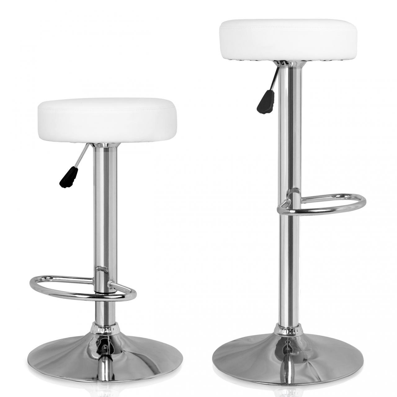 Set de 2 tabourets de bar chaise de comptoir fauteuil lounge chaise pivotante - Tabouret de bar lounge ...