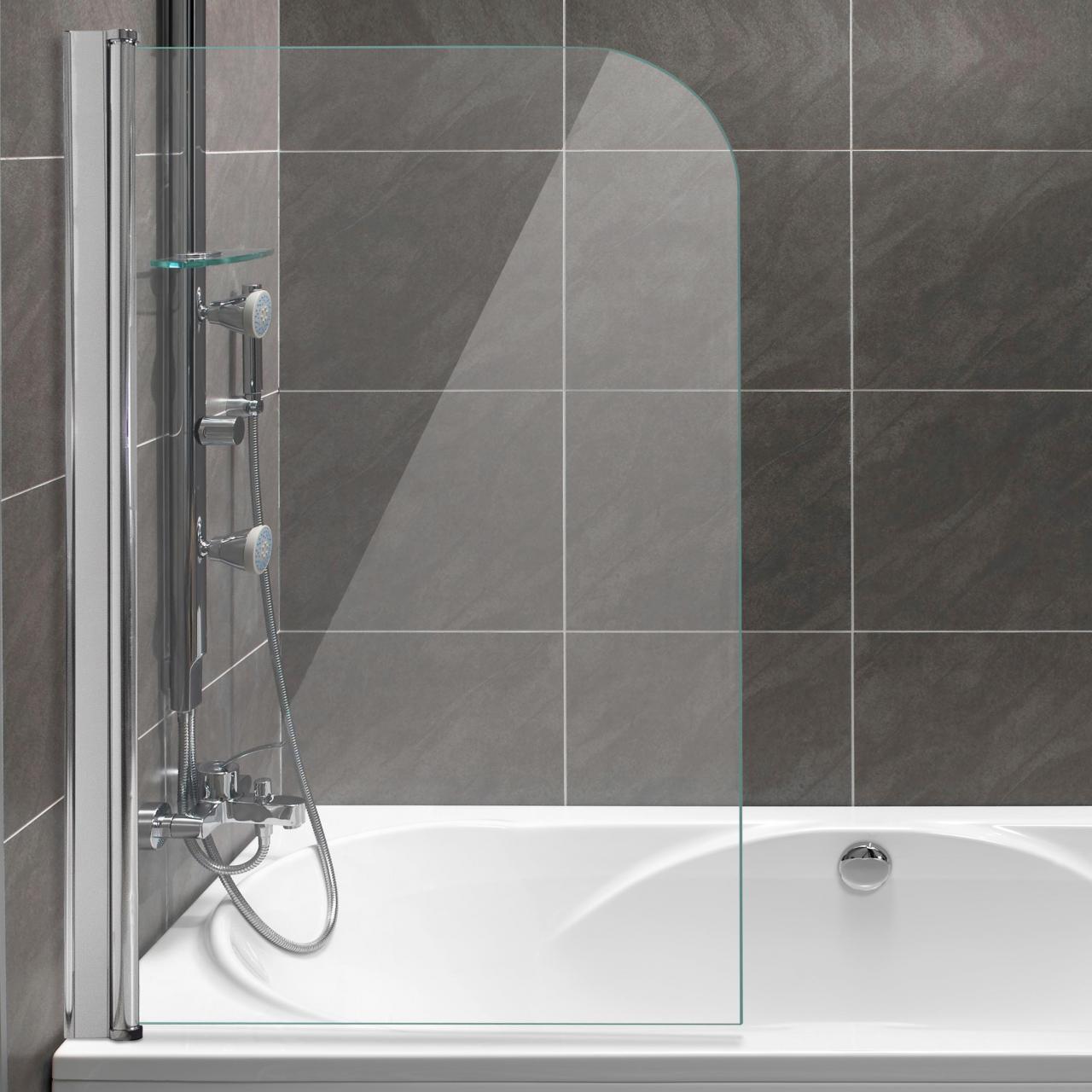 duschabtrennung dusche badewannenaufsatz faltwand duschwand glaswand lotuseffekt ebay. Black Bedroom Furniture Sets. Home Design Ideas