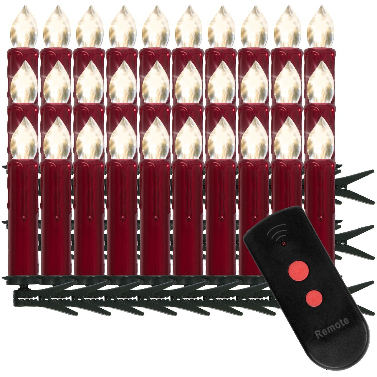 kabellose led weihnachtskerzen 20 30 40 lichterkette. Black Bedroom Furniture Sets. Home Design Ideas