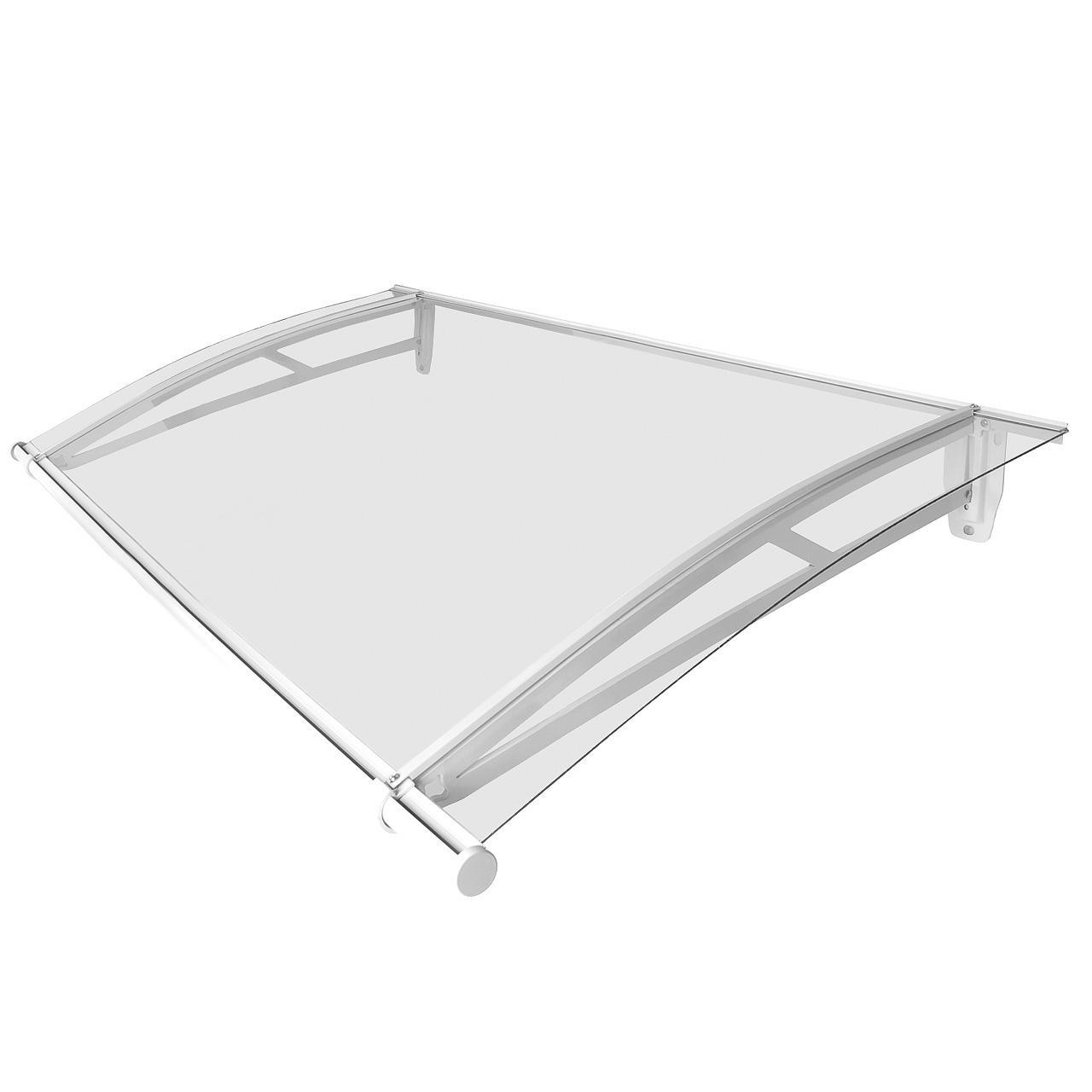 Homelux Haustür Vordach Überdachung Pultvordach Aluminium 120 cm x ...