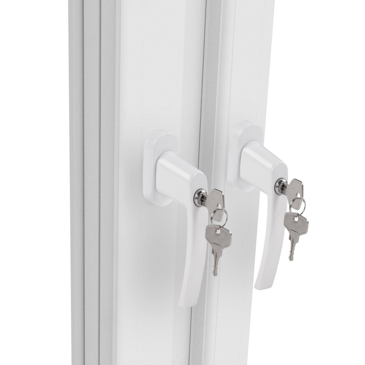 4 fenstergriffe abschlie bar sicherheitsfenstergriff fensterklinke mit schloss ebay. Black Bedroom Furniture Sets. Home Design Ideas