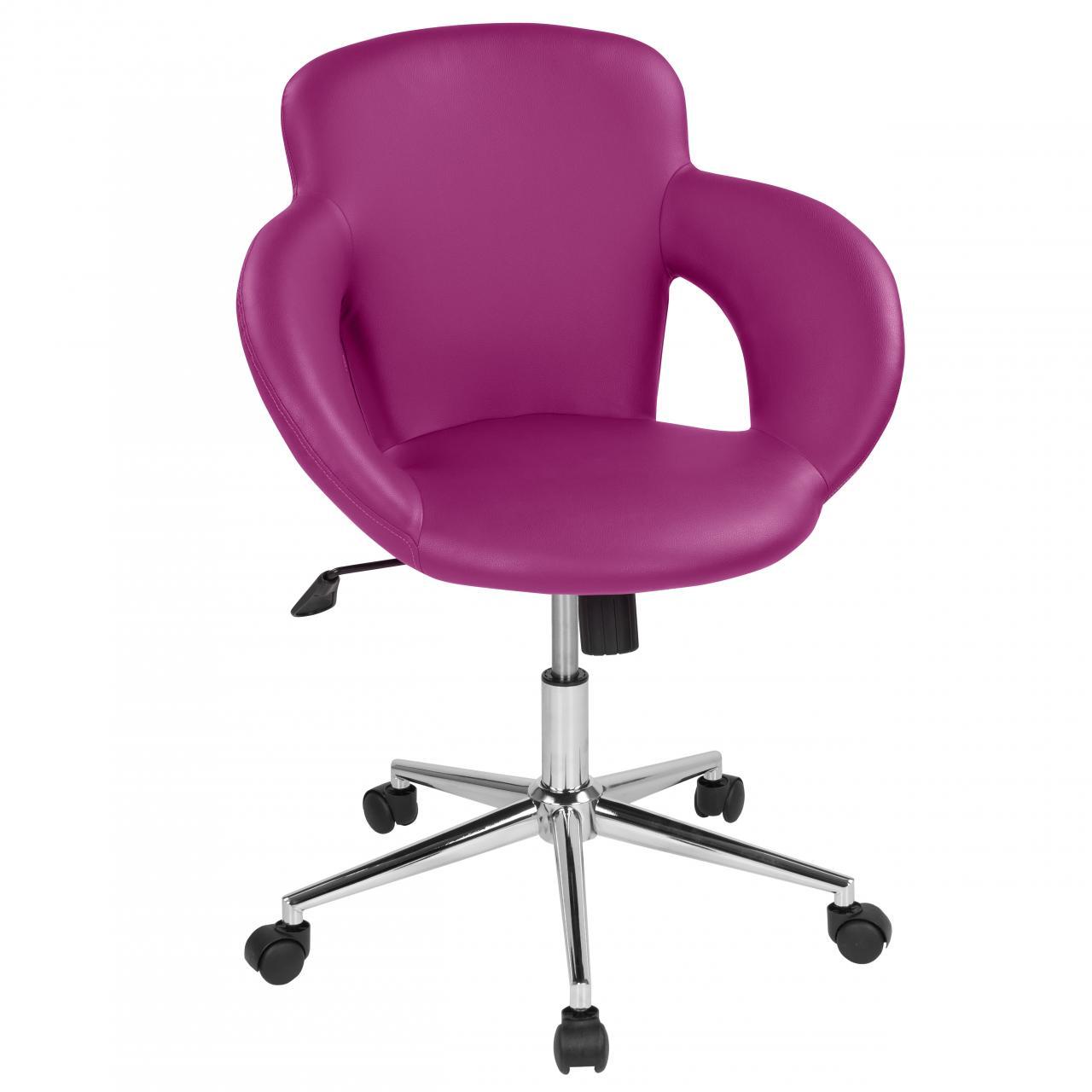 drehstuhl mit design drehkreuz b rostuhl schreibtischstuhl drehhocker lila ebay. Black Bedroom Furniture Sets. Home Design Ideas