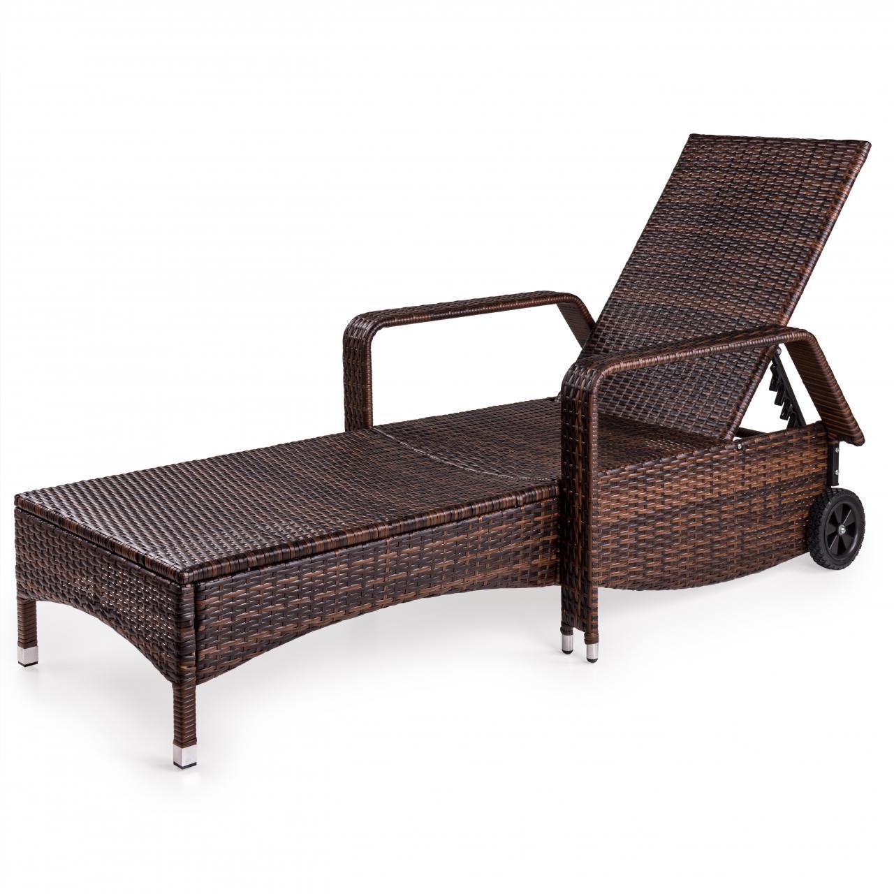 polyrattan sonnenliege gartenliege rattan garten liege rattanm bel gartenm bel. Black Bedroom Furniture Sets. Home Design Ideas