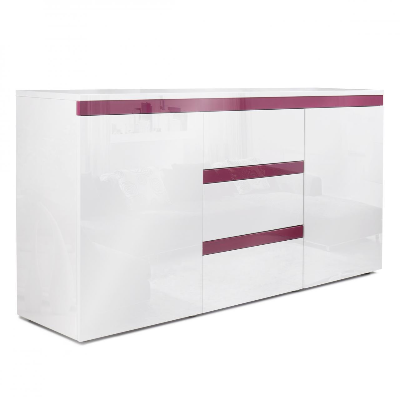 Homlux sideboard kommode hochglanz push to open tv schrank for Sideboard kommode