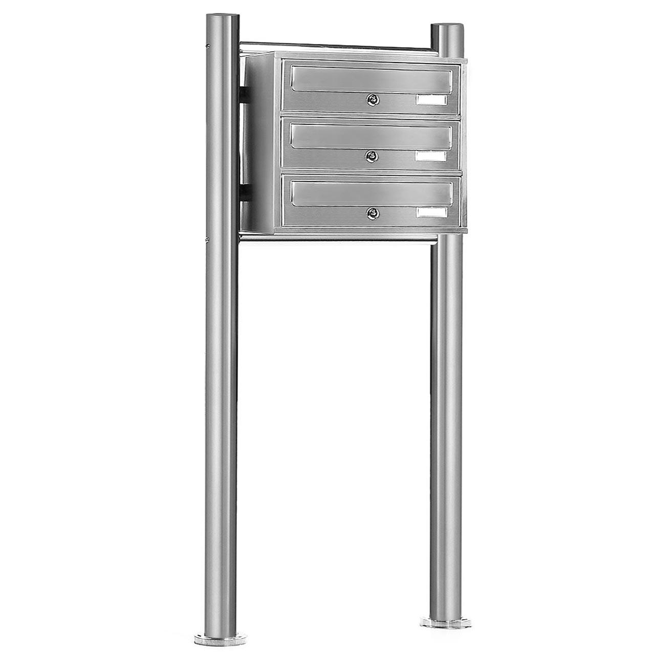 v2a edelstahl standbriefkasten briefkasten anlage system. Black Bedroom Furniture Sets. Home Design Ideas