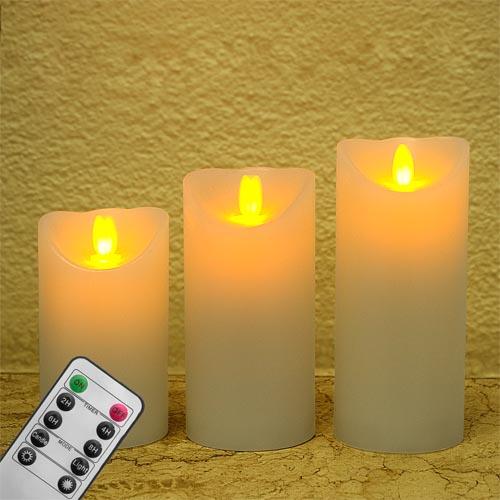 3 led xxl echtwachskerzen 3d effekt flackernd kerzen lichter flammenlos aroma ebay. Black Bedroom Furniture Sets. Home Design Ideas